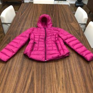 Pink puffer jacket